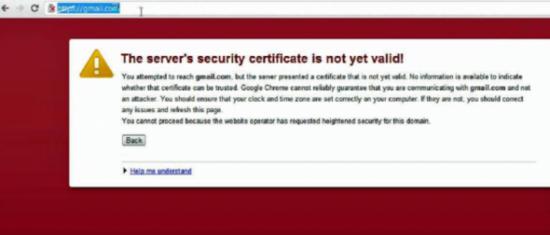 谷歌警告称存在一个未经授权的证书危害所有操作系统