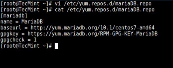 添加 MariaDB YUM 仓库
