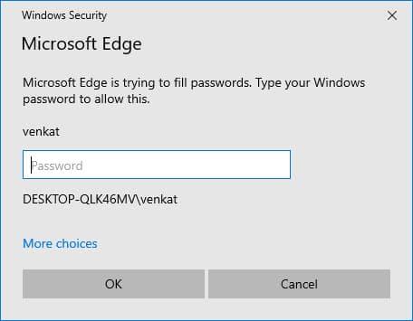 微软Edge新增密码自动填充功能的操作系统认证安全层